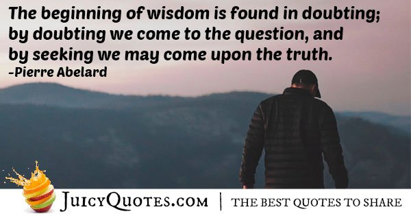 Doubt and Wisdom Quote