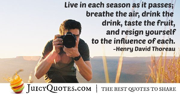 Living In Passing Seasons Quote