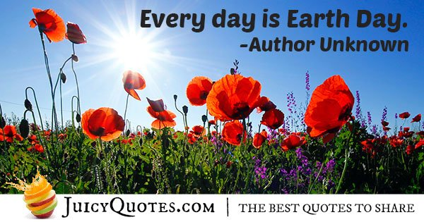 Quote About Earth Day