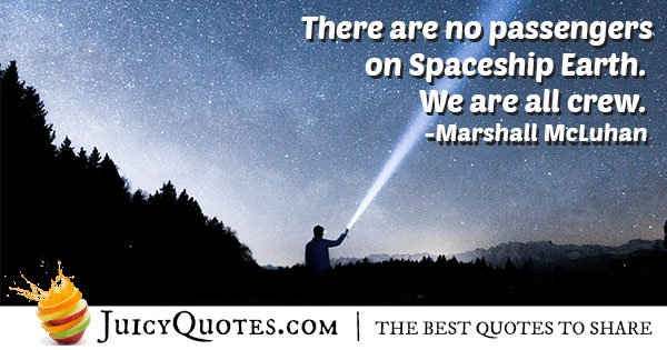 Spaceship Earth Quote