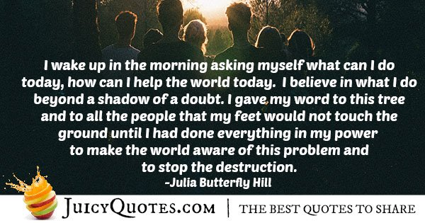 Helping The World Quote