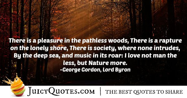 Love For Nature Quote