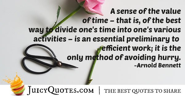 Efficiency and Time Quote