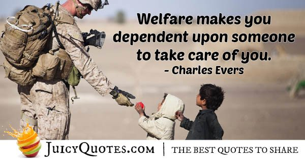 Welfare and Dependency Quote