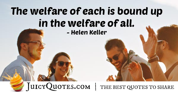 Welfare of All Quote