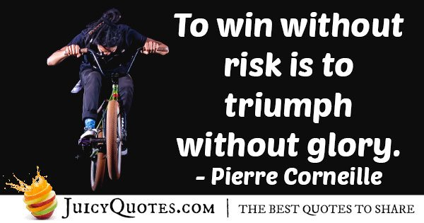 Winning and Risks Quote