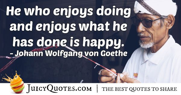 Enjoyment of Doing Quote