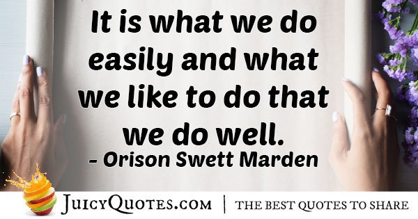 Enjoying What Is Easy Quote