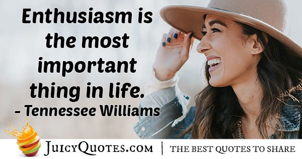 Enthusiasm is Important Quote