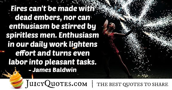 Enthusiasm and Work Quote