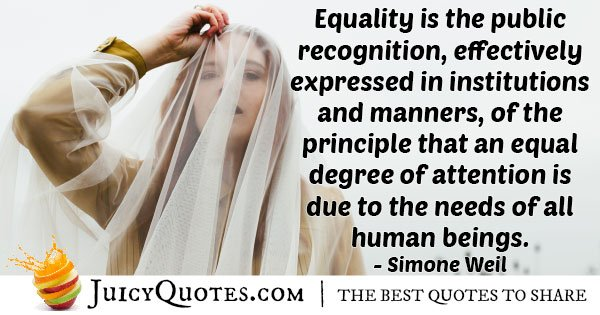 Recognition of Equality Quote