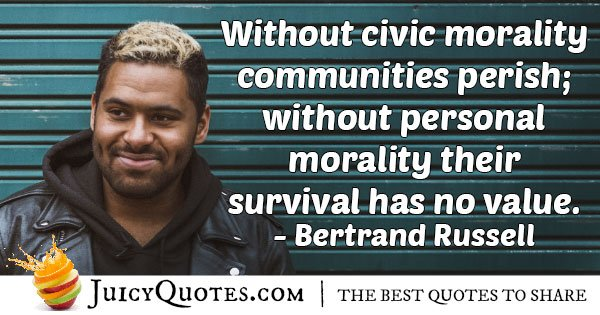 Civic Morality Quote