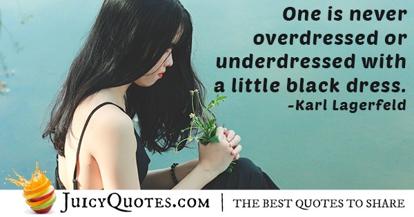 Little Black Dress Quote