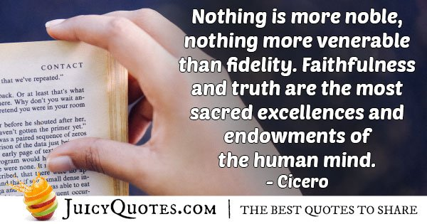 Faithfulness and Truth Quote