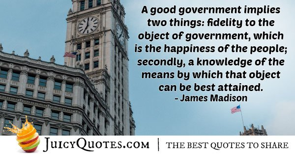 A Good Government Quote