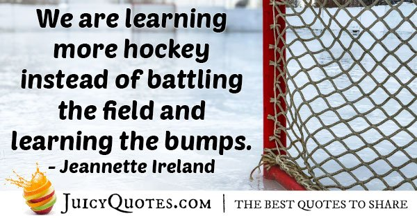Field Hockey Learning Quote