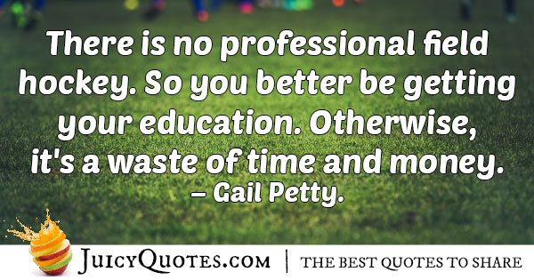 No Professional Field Hockey Quote