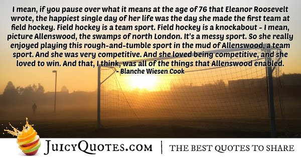 First Team for Field Hockey Quote