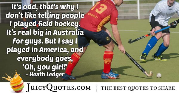 Field Hockey For Girls Quote