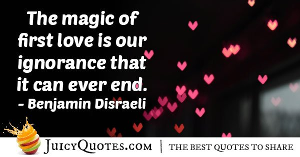 Magic Of First Love Quote
