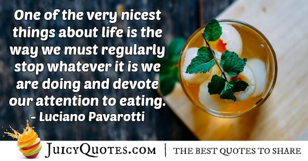 Attention to Eating Quote