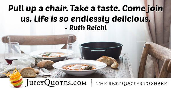 Food is Delicious Quote