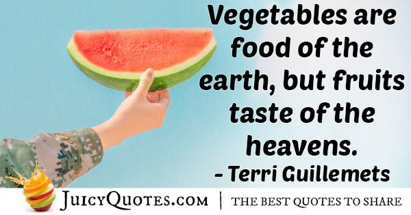 Vegetables VS Fruits Quote