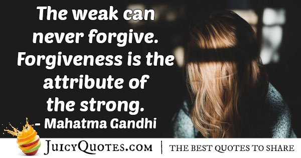 The Strong Forgive Quote