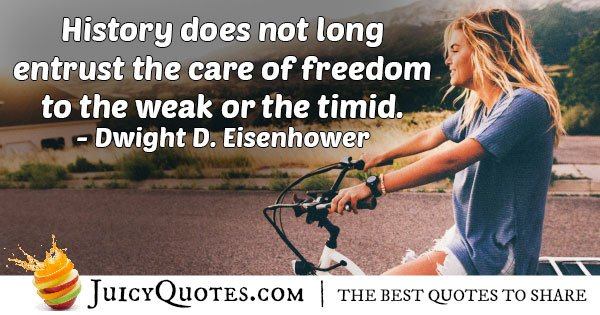 Care of Freedom Quote