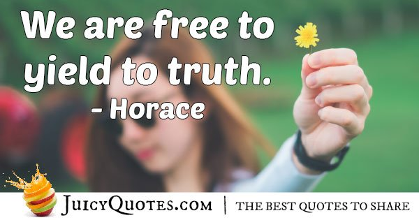 Free to Truth Quote