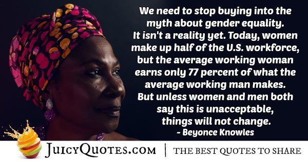 Gender Equality Myth Quote