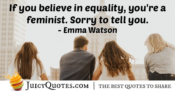 Feminist Equality Quote