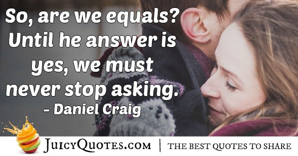 Gender Equality Answer Quote