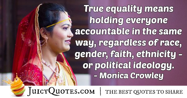 Accountable Gender Equality Quote