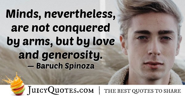Generosity can Conquer Quote