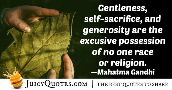 Generosity and Gentleness Quote