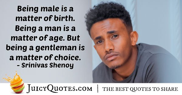 Gentlemans Choice Quote With Picture