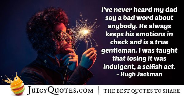 Gentleman Don't Lose It Quote