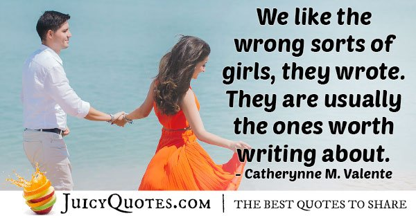 Wrong Girl's Quote