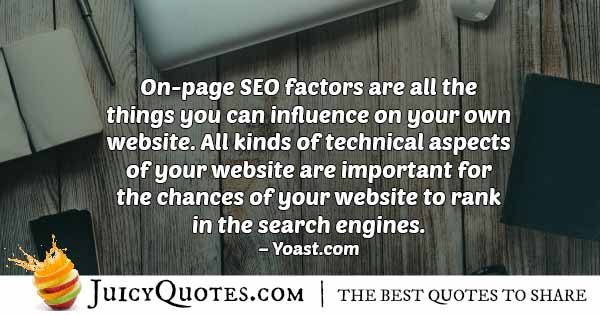 SEO Factors Quote