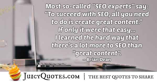 SEO is more than Great Content Quote
