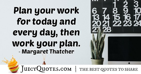 Plan Your Work Quote With Picture