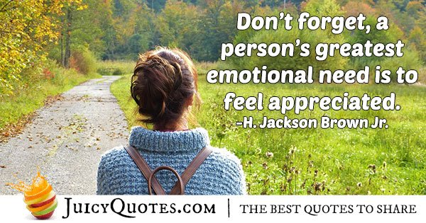 To Feel Appreciated Quote