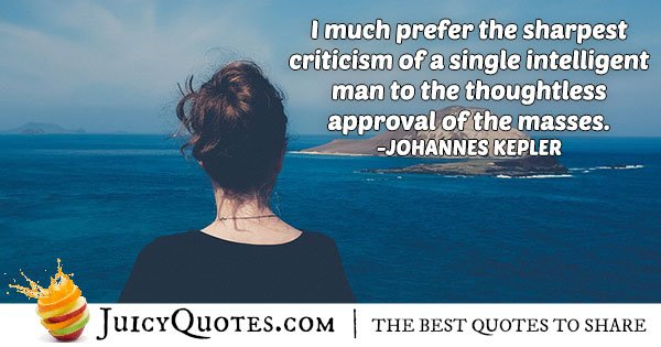 Criticism VS. Approval Quote