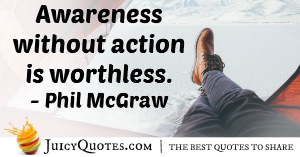Awareness and Action Quote
