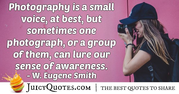 Photography Can Raise Awareness Quote