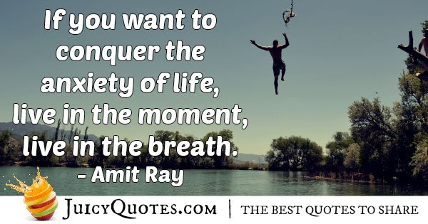 Conquering Anxiety of Life Quote