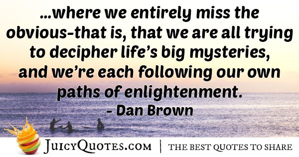 Following Our Own Path Quote