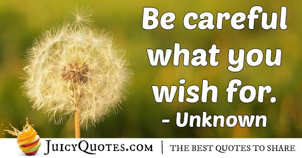 Caution of Wishes Quote