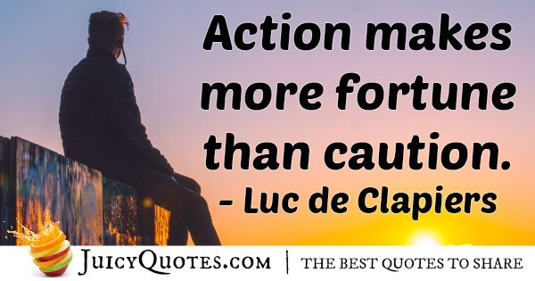 Action VS Caution Quote